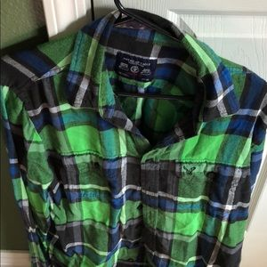 American Eagle Flannel - Green - Athletic Fit - LT
